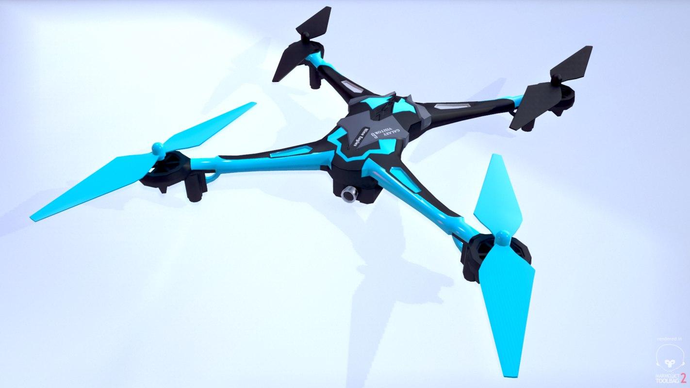 copter quadro quadrocopter 3d obj