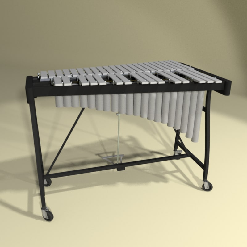 3d model vibraphone xylophone instrument