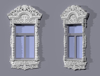 window frames indow 3d model