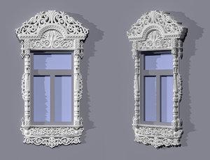 window frames indow 3d model