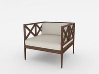 3d model azimuth armchair