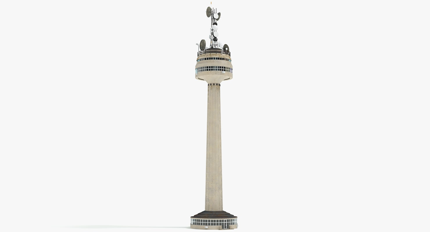 tv tower 3d max