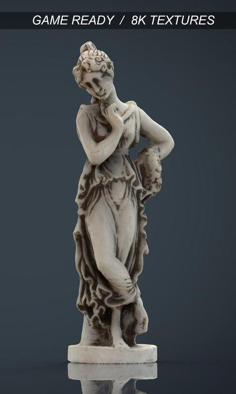3d realistic greek statue model