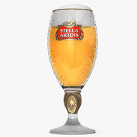 stella artois glass beer 3d model