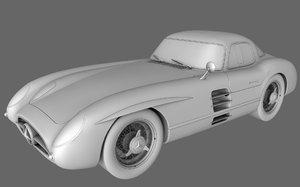 3d model mercedes benz slr 300