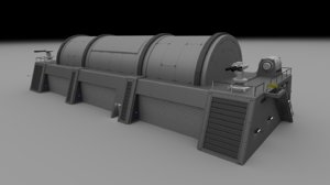 3d futuristic military armory building model