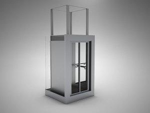 elevator 3d max