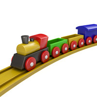 3d toy locomotive train model