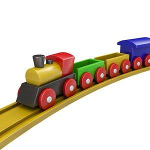 3d toy locomotive train model