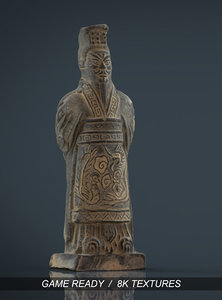 obj terracota soldier