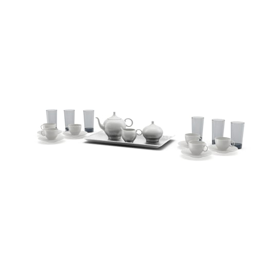 tea coffee set 3d max