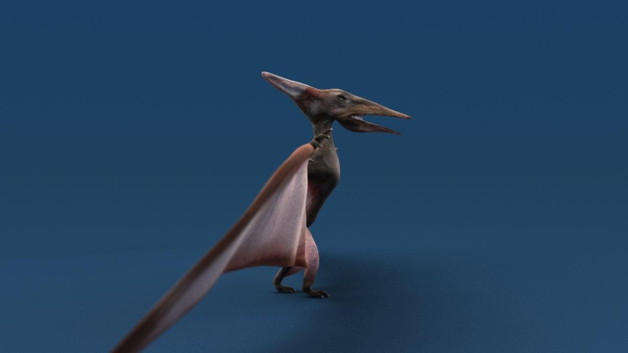 flying dinosaur sss 3d model