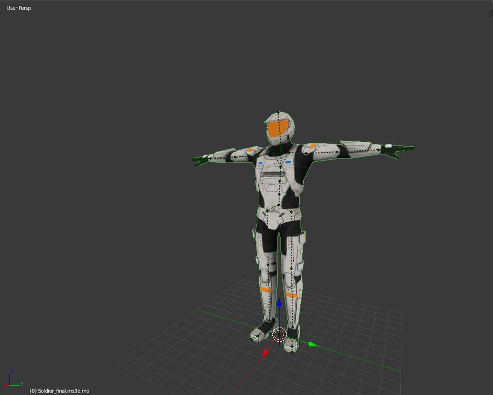free sci fi soldier 3d model