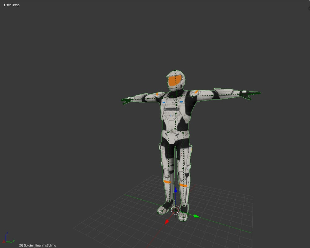 Sci Fi Soldier 3d Fbx