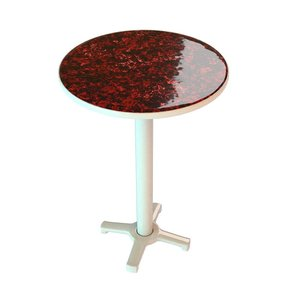 3d marble red table model