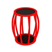 red table 3d model