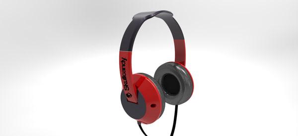 3d headphone inventor model