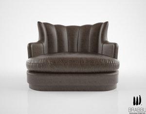 brabbu plum sofa 3d model