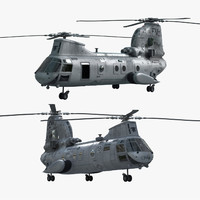 US Navy CH-46 Rigged and Animated