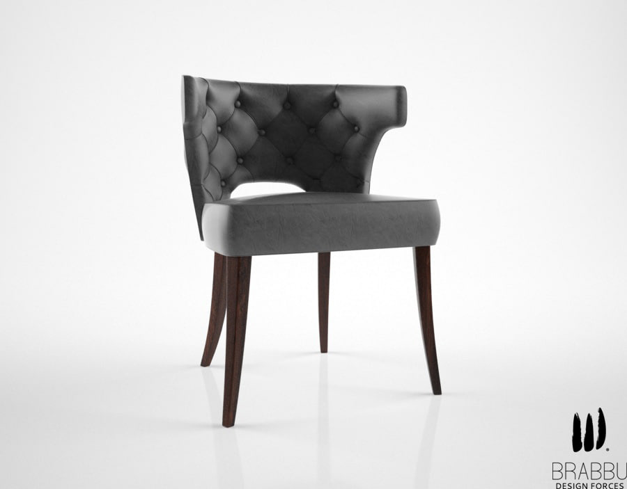brabbu kansas dining chair 3d max