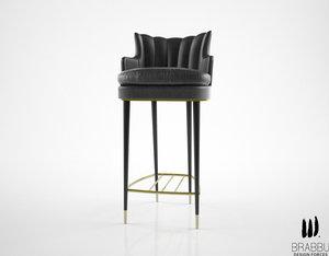 3d brabbu plum counter stool