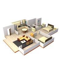 3d interior layout