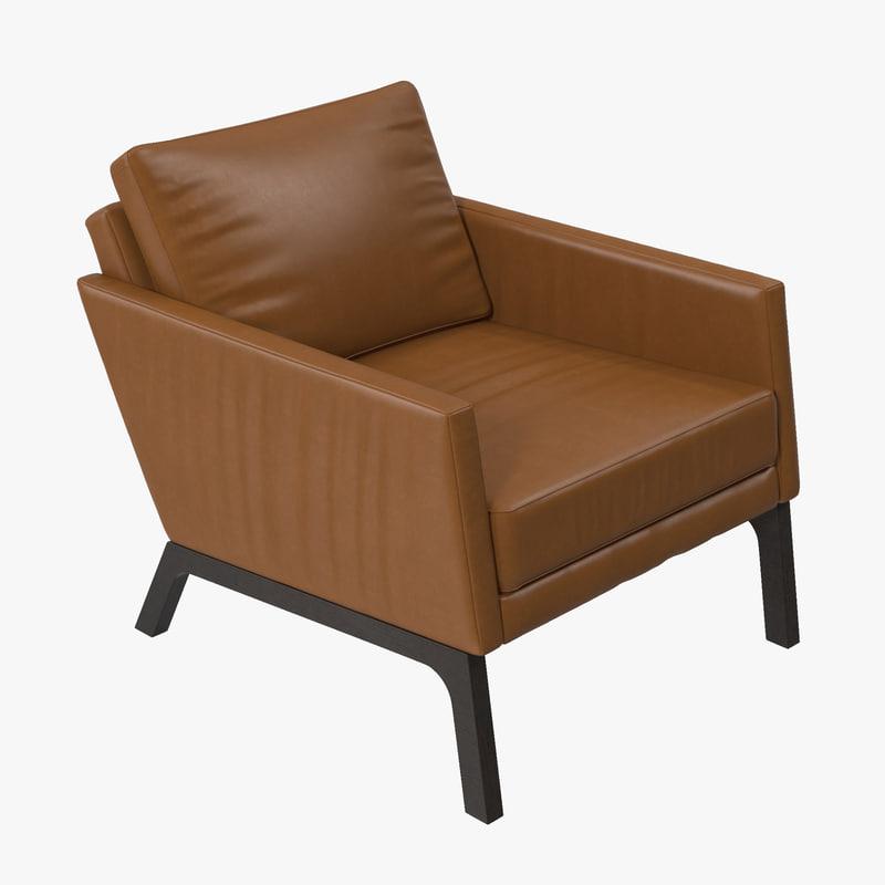 boconcept monte leather chair 3d model