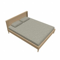 wood bed 3d model