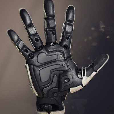 robot hand 3d max