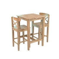 3d table wood chair