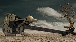 george lynch esp skull 3d obj