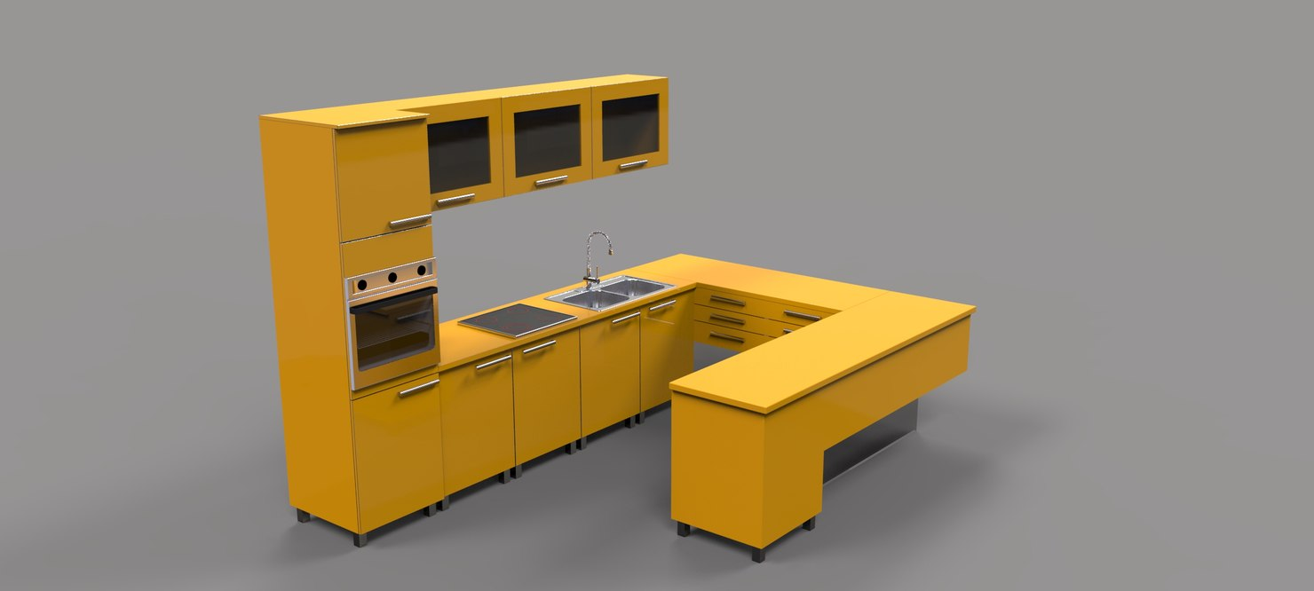 3d model kitchen 3