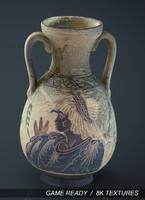 3d greek vase
