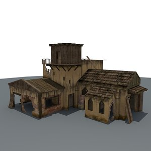 ruined house games 3d c4d