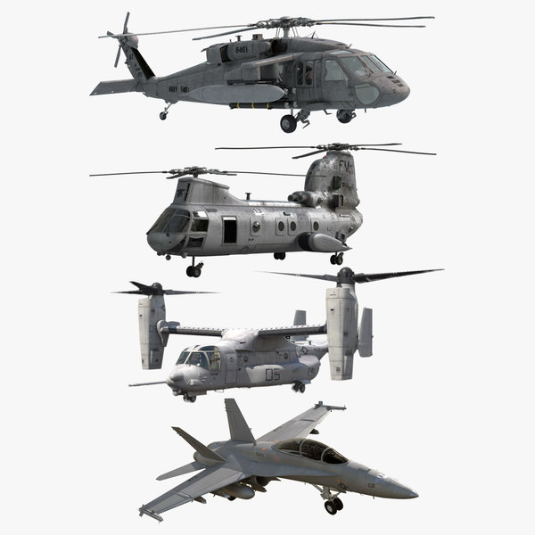 3d model navy air force aircrafts