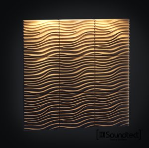 acoustic wall panel 3d max