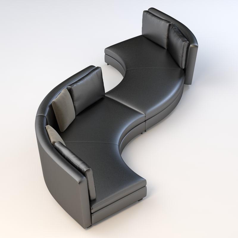 3d minotti seymour seating model