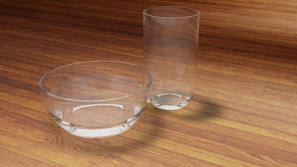 3d glass bowl