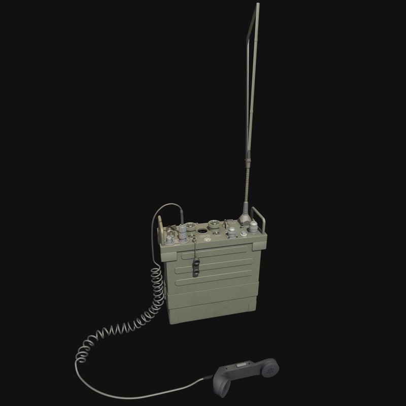 military radio 3d max