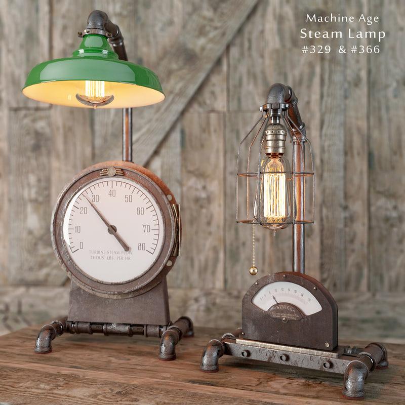 steam lamp 329 3d model