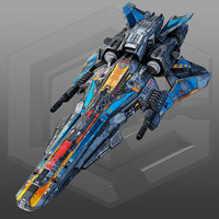 3d scifi light fighter spaceship