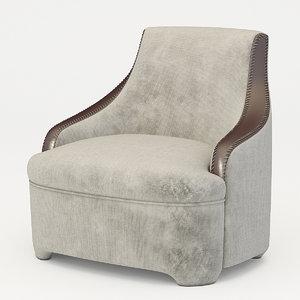 armchair promemoria gioconda 3d model