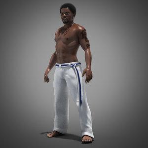 3d capoeira fighter model