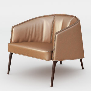 3d armchair vittoria frigerio jackie model