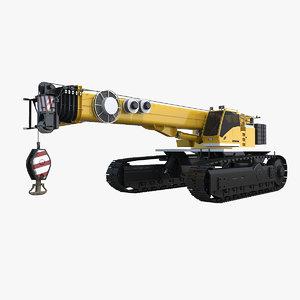 3d generic crawler crane
