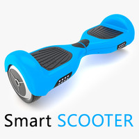 wheel smart electronic scooter 3d model