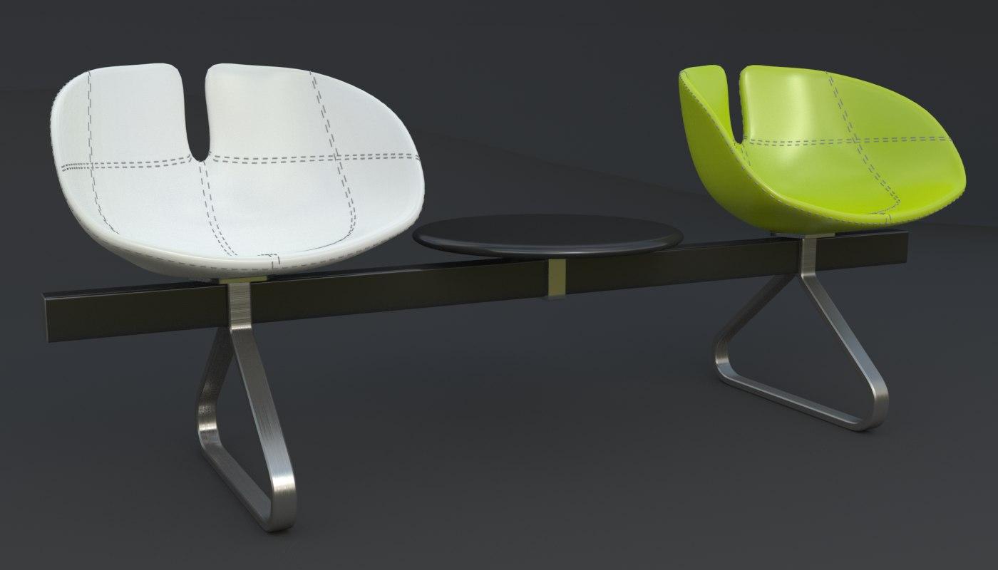 3d model fjord bench sistema iray