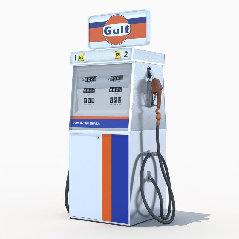 3d gulf fuel dispenser