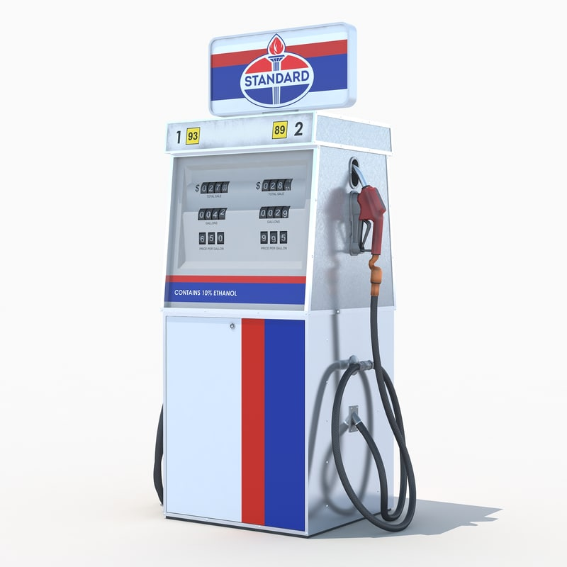 3d model of standard fuel dispenser