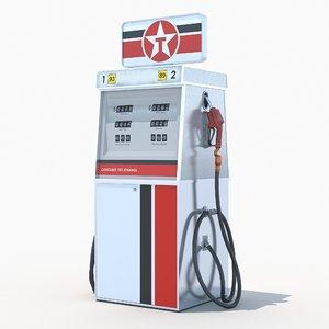 3d model texaco fuel dispenser